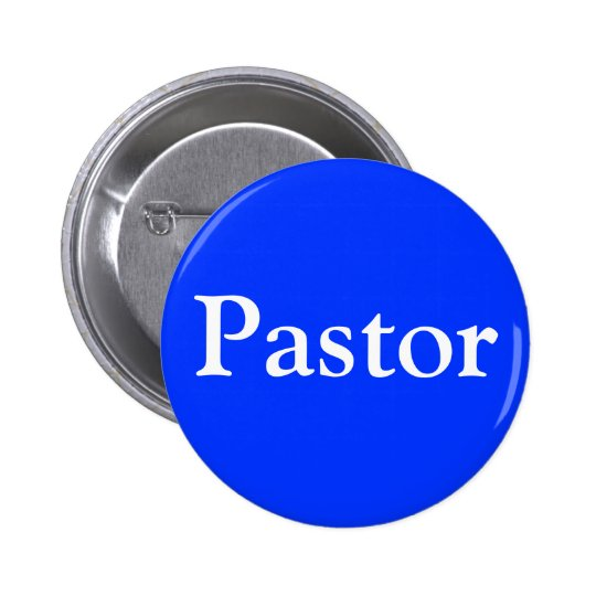 Christian Pastor button with pin clasp
