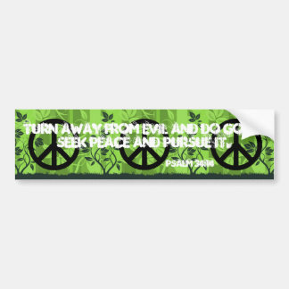 Christian Peace Bumper Sticker