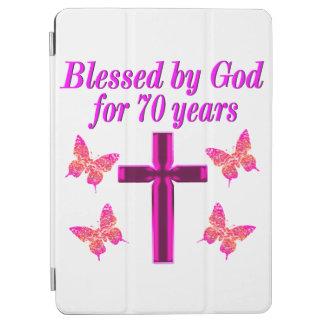 CHRISTIAN PINK 70TH BIRTHDAY CROSS DESIGN iPad AIR COVER