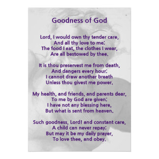Christian poem / hymne : The goodness of God 1 Poster