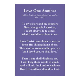 Christian poem: Love one another Poster