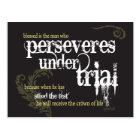 Christian postcard: Perseveres under trial Postcard