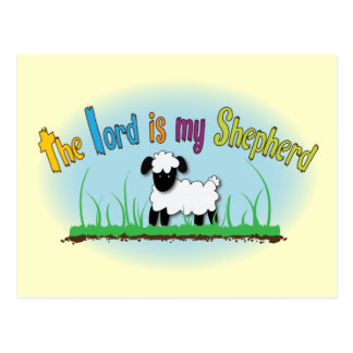 Christian postcard: The Lord is my shepherd Postcard