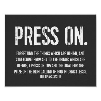 Christian Poster Bible, Philippians 3:13-14