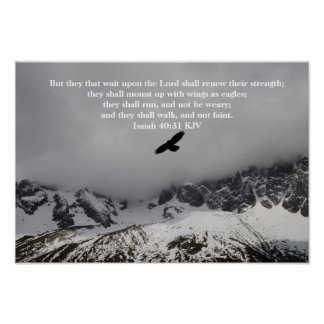 Christian Poster - Isaiah 40:31 but they that wait