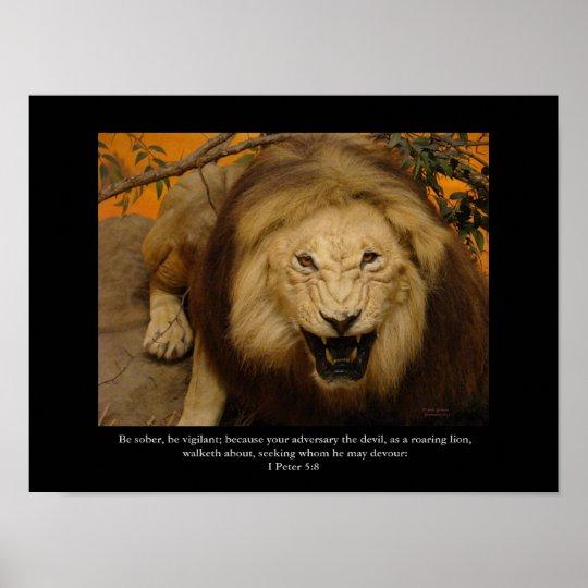 Christian Poster, Roaring Lion! Poster
