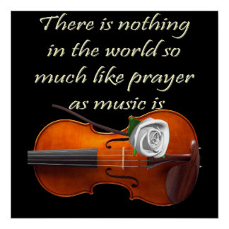 Christian Poster Violin Inspirational Saying