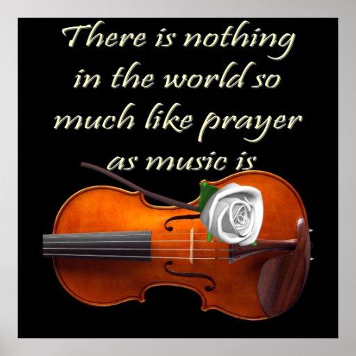Christian Poster Violin Inspirational Saying