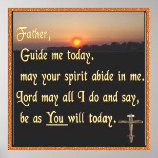 Christian prayer poster art