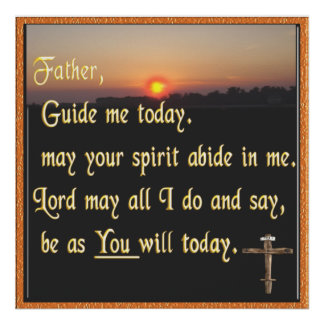 Christian prayer poster art