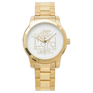 Christian Priestly Blessing Unisex Gold Watch