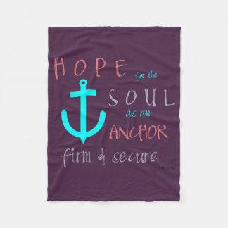 Christian Prophetic Hope for the Soul Prayer Fleece Blanket