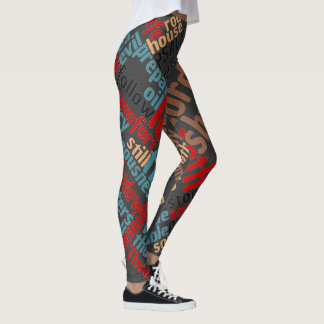 Christian Psalm 23 Lg. Print Leggings