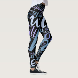 Christian Psalm 91 Lg. Print Leggings