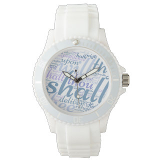 Christian PSALM 91 White Silicon Watch