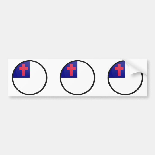 Christian quality Flag Circle Bumper Sticker