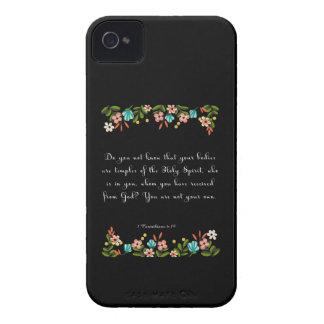 Christian Quote Art - 1 Corinthians 6:19 iPhone 4 Cover