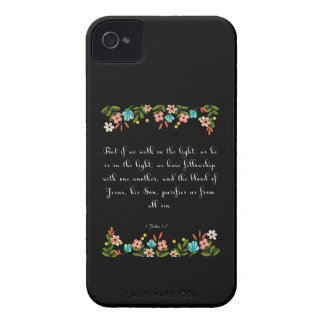 Christian Quote Art - 1 John 1:17 iPhone 4 Cover