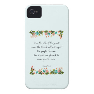 Christian Quote Art - 1 Samuel 12:22 iPhone 4 Case-Mate Cases