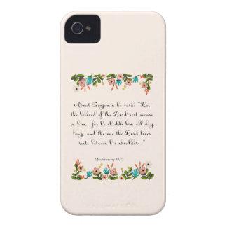 Christian Quote Art - Deuteronomy 33:12 iPhone 4 Case-Mate Case