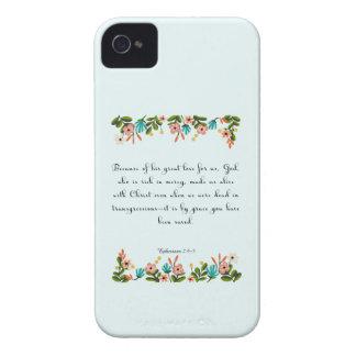 Christian Quote Art - Ephesians  2:4-5 Case-Mate iPhone 4 Case