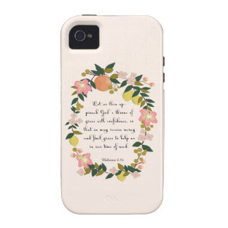 Christian Quote Art - Hebrew 4:16 Vibe iPhone 4 Cover