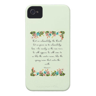 Christian Quote Art - Hosea 6:3 iPhone 4 Covers