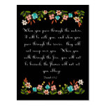 Christian Quote Art - Isaiah 43:2 Postcard