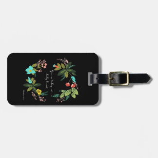 Christian Quote Art - Matthew 6:11 Luggage Tag