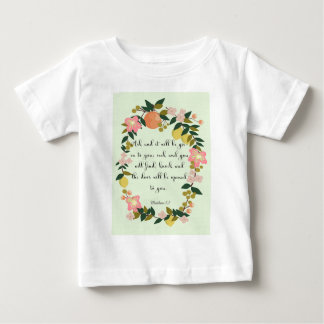Christian Quote Art - Matthew 7:7 Tee Shirt