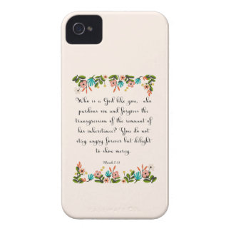 Christian Quote Art  - Micah 7:18 Case-Mate iPhone 4 Cases