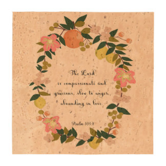 Christian Quote Art - Psalm 103:8 Beverage Coaster