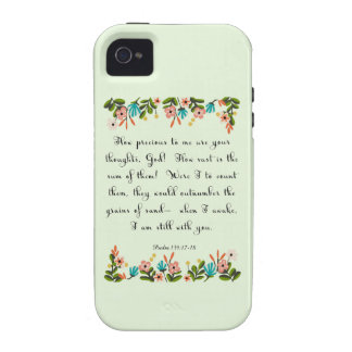 Christian Quote Art - Psalm 139: 17-18 iPhone 4/4S Cover