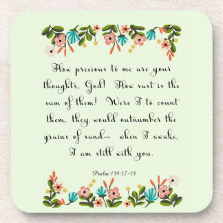 Christian Quote Art - Psalm 139: 17-18 Coasters