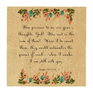 Christian Quote Art - Psalm 139: 17-18 Drink Coaster