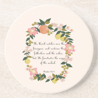 Christian Quote Art - Psalm 146:9 Coasters
