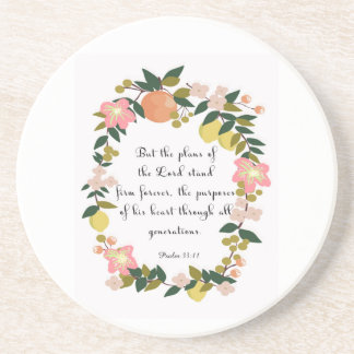 Christian Quote Art - Psalm 33:11 Coaster