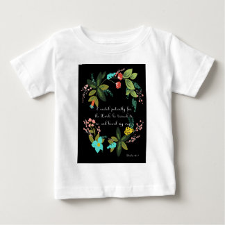 Christian Quote Art - Psalm 40:1 Tee Shirt