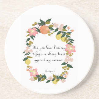Christian Quote Art - Psalm 61:3 Coasters
