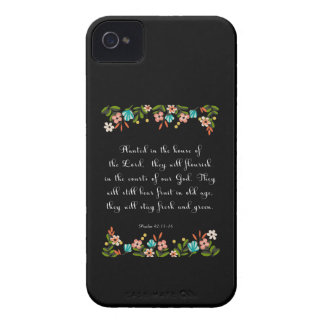 Christian Quote Art - Psalm 92:13-14 iPhone 4 Case-Mate Cases