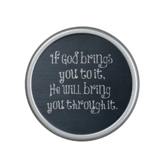 Christian Quote: If God brings you to it Bluetooth Speaker