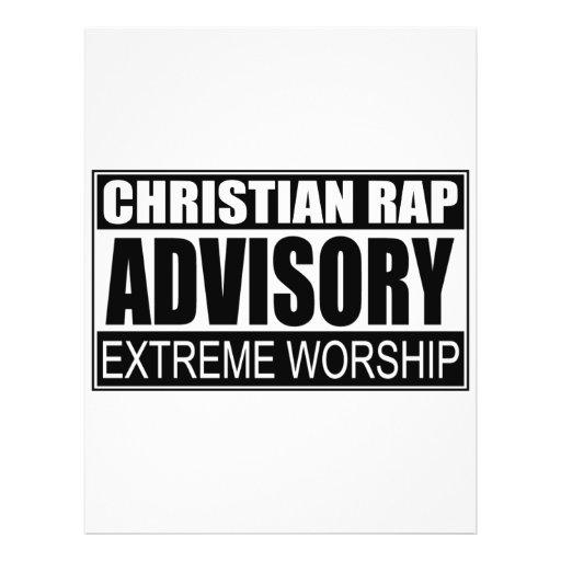 Christian Rap Advisory... Full Color Flyer