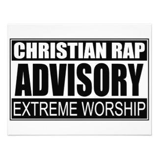 Christian Rap Advisory Personalized Invitations