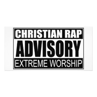 Christian Rap Advisory Photo Cards