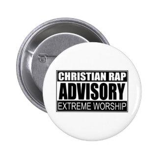 Christian Rap Advisory Pins
