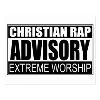 Christian Rap Advisory Post Cards