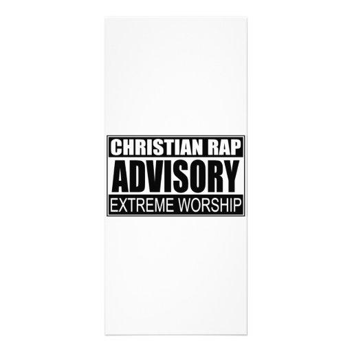 Christian Rap Advisory... Rack Card