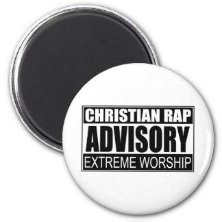 Christian Rap Advisory Refrigerator Magnet