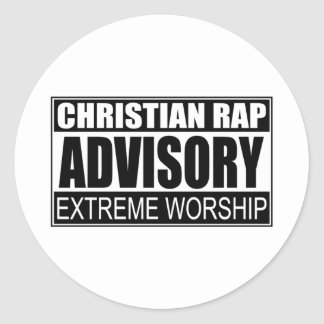 Christian Rap Advisory Round Sticker