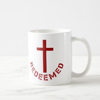 Christian Redeemed Red Cross and Text Design Coffee Mug
